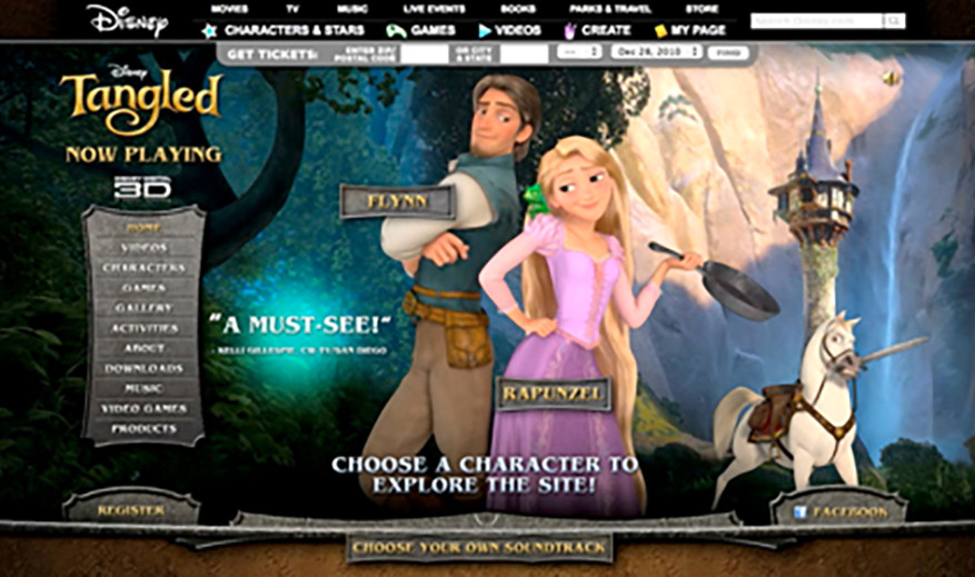 Disney Tangled Official Website